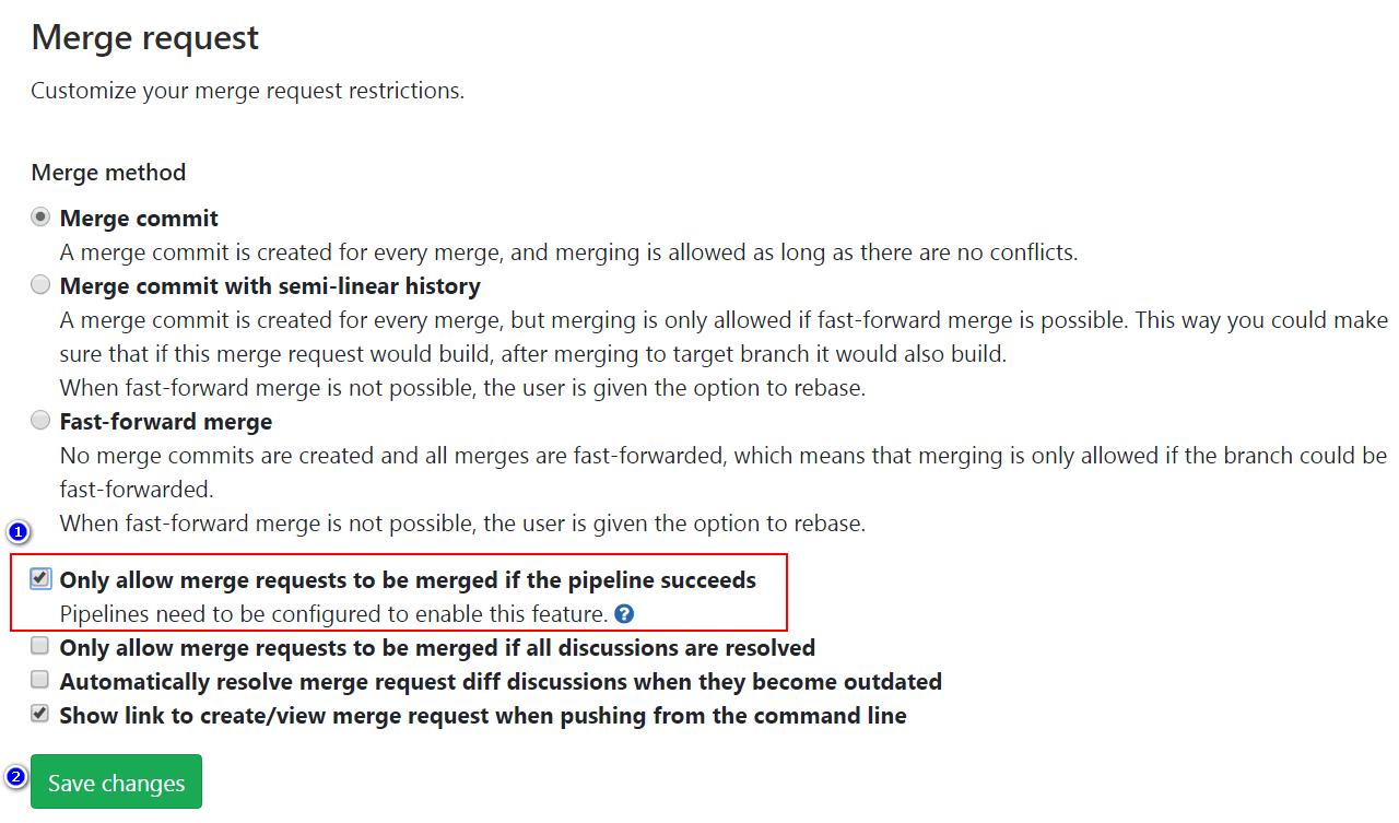 设置merge请求条件